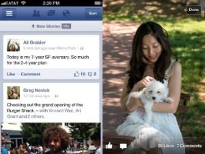Facebook усовершенствовала скорость для iPhone и iPad