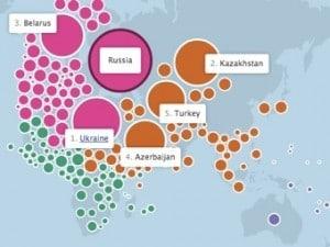 Теперь можно узнать о связях между странами при помощи Facebook